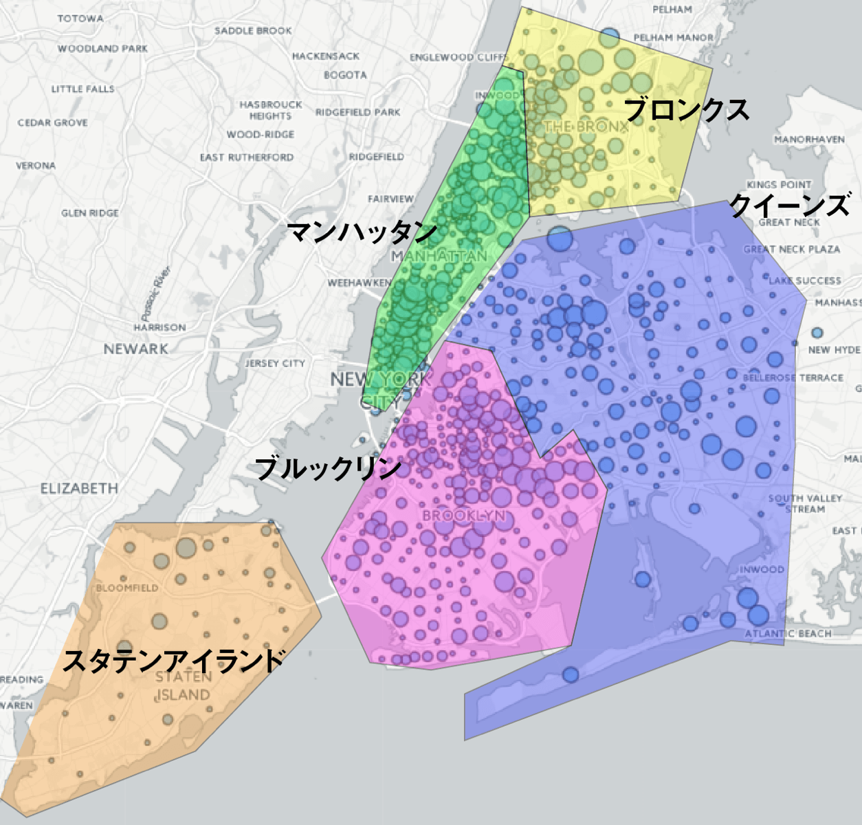 Nyc crime map color